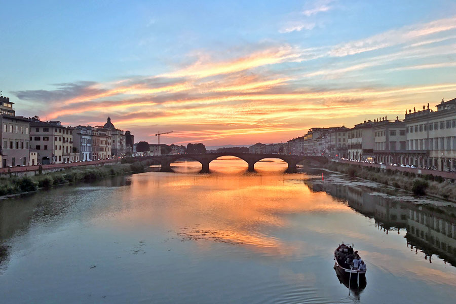 Living in Florence, Italy :: Evolution of a sunset