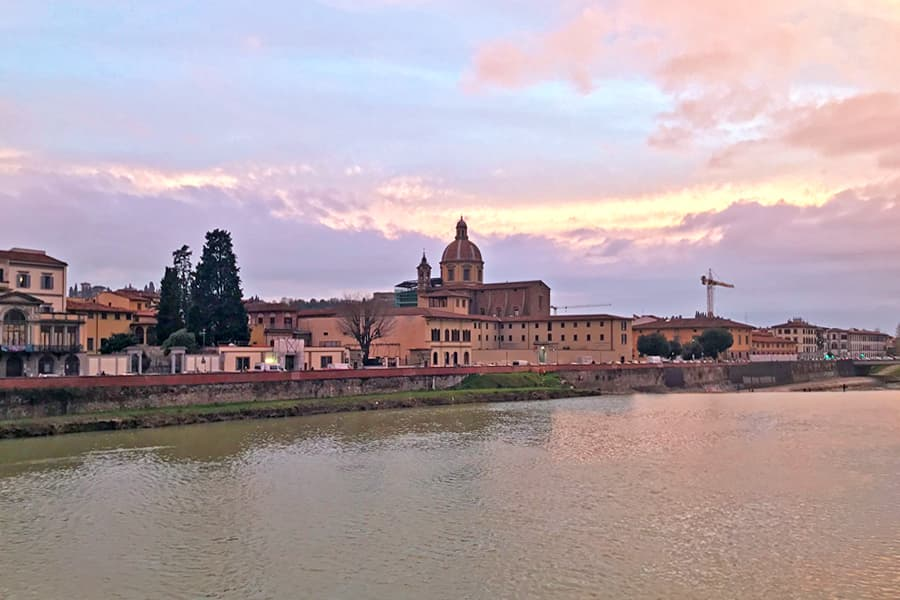 Living in Florence, Italy :: An unexpected sunset