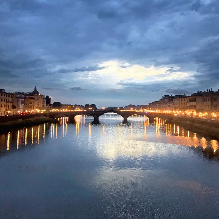 Living in Florence, Italy :: Sunset from Ponte Santa Trinita