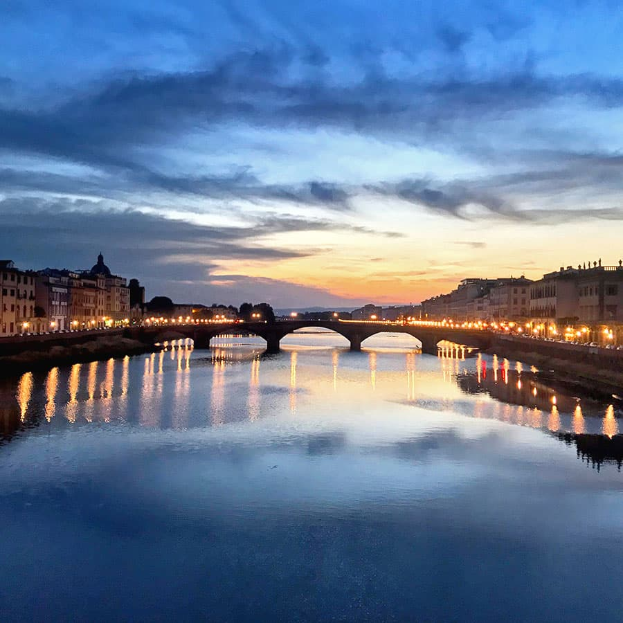 Living in Florence, Italy :: Blue hour from Ponte Santa Trinita