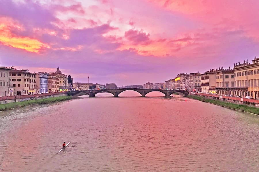 Living in Florence - An unexpected sunset