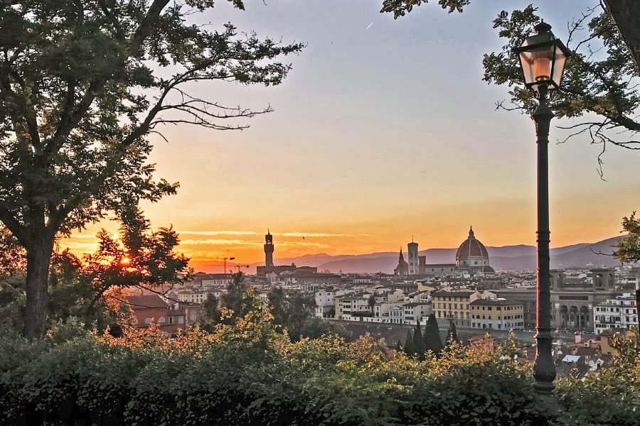 Living in Florence - Delighting in a sunset
