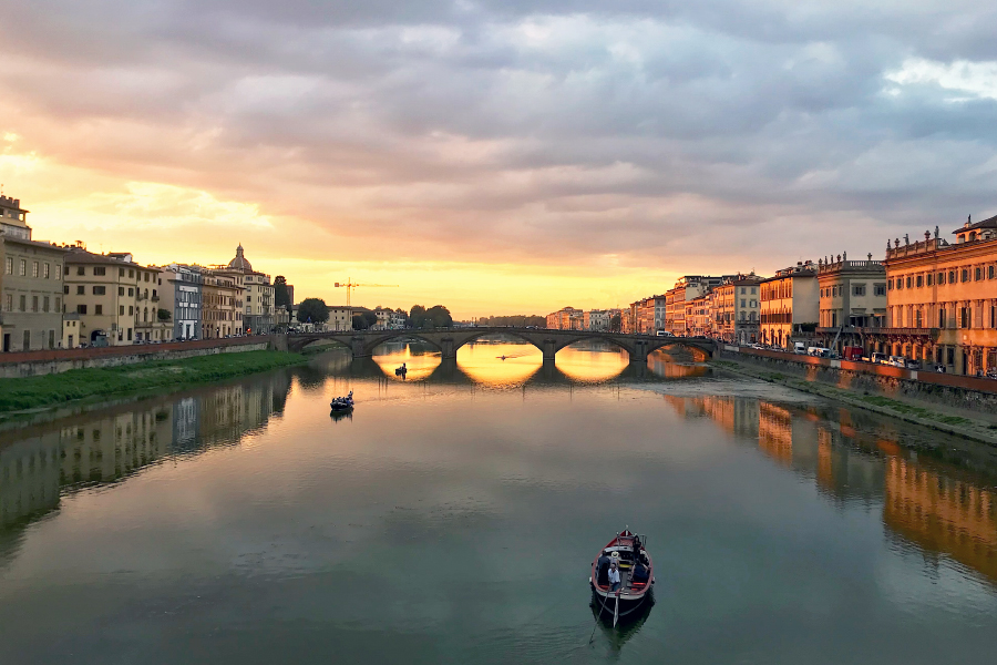 Living in Florence - Reveling in a sunset
