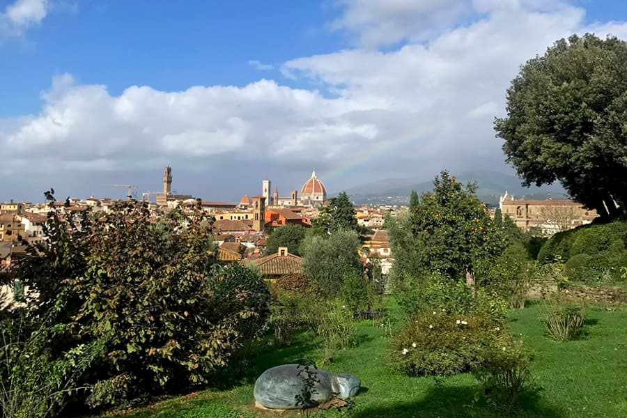 Living in Florence - Delighted by a rainbow